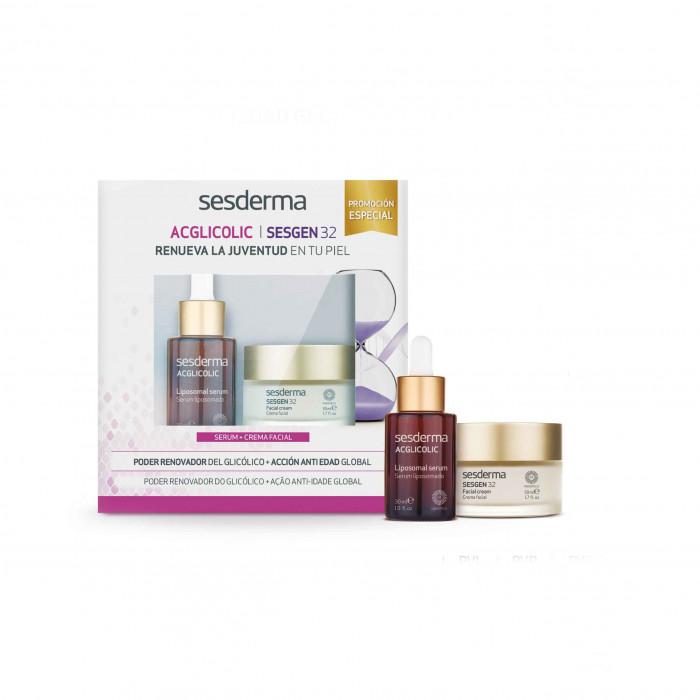 Pack Acglicolic serum + sesgen 32 crema facial