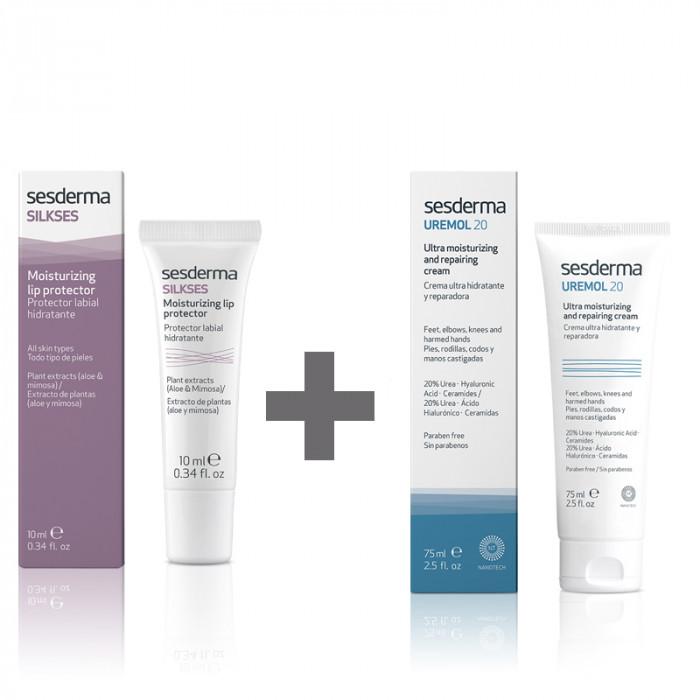 Pack Uremol Crema Ultrahidratante + Silkses Protector Labial